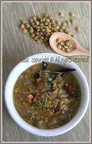 zuppa lenticchie cavolfiore