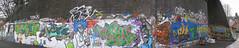 Graffiti @ High Wycombe Skate Park - Panorama - Feb 2011 (old_skool_paul) Tags: new uk original england guy composition photography death graffiti weird blog amazing promo hands montana comic shadows natural skateboarding unitedkingdom edited character graf buckinghamshire cartoon style competition wideangle 360 trains science spray powershot latenight fisheye sidewalk skatepark vandal lee single hiphop editing spraypaint uni premiere mad buck marvel scratch idle pioneer productions filmmaking rupert position rhyme dubstep scientist degree dirtythirty wycombe dilla highwycombe perverts drumandbass stylewars graphotism dirty30 bobe 2011 ukhiphop mystro tumblr southbucks