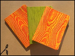 3 Fabric Covered Mini Notebooks (All Things Bright) Tags: composition diy handmade craft mini fabric covered scraps journals notebooks