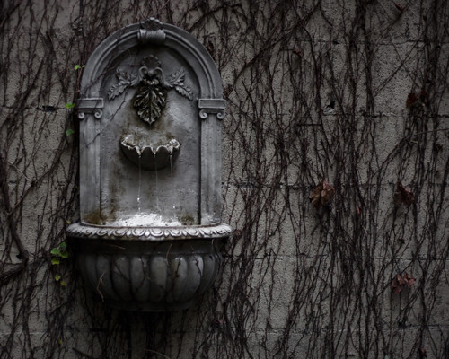 fountain on wall