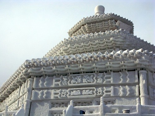 Hall of Prayer for Good Harvests at the Temple of Heaven, rendered in snow by clairelynn