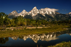 The Lower Teton Range Reflected on the Snake River at Schwabacher Landing at Grand Teton National Park (D200-PAUL) Tags: nationalpark snakeriver wyoming tetons grandteton grandtetonnationalpark thesnake schwabacherlanding schwabacher aboveandbeyondlevel4 aboveandbeyondlevel1 aboveandbeyondlevel2 aboveandbeyondlevel3