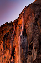 Double Firefall (Horsetail Falls, Yosemite National Park). (Robin Black Photography) Tags: california light landscape waterfall nationalpark ngc valley yosemite glowing sierras elcapitan sierranevada goldenhour naturesbest fiery highsierra horsetail nationalgeographic phenomenon horsetailfalls firefall galenrowell rangeoflight outdoorphotographer epicsunset neonwater naturalfirefall
