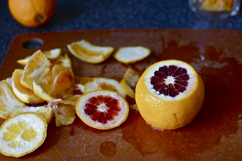 blood oranges, some red