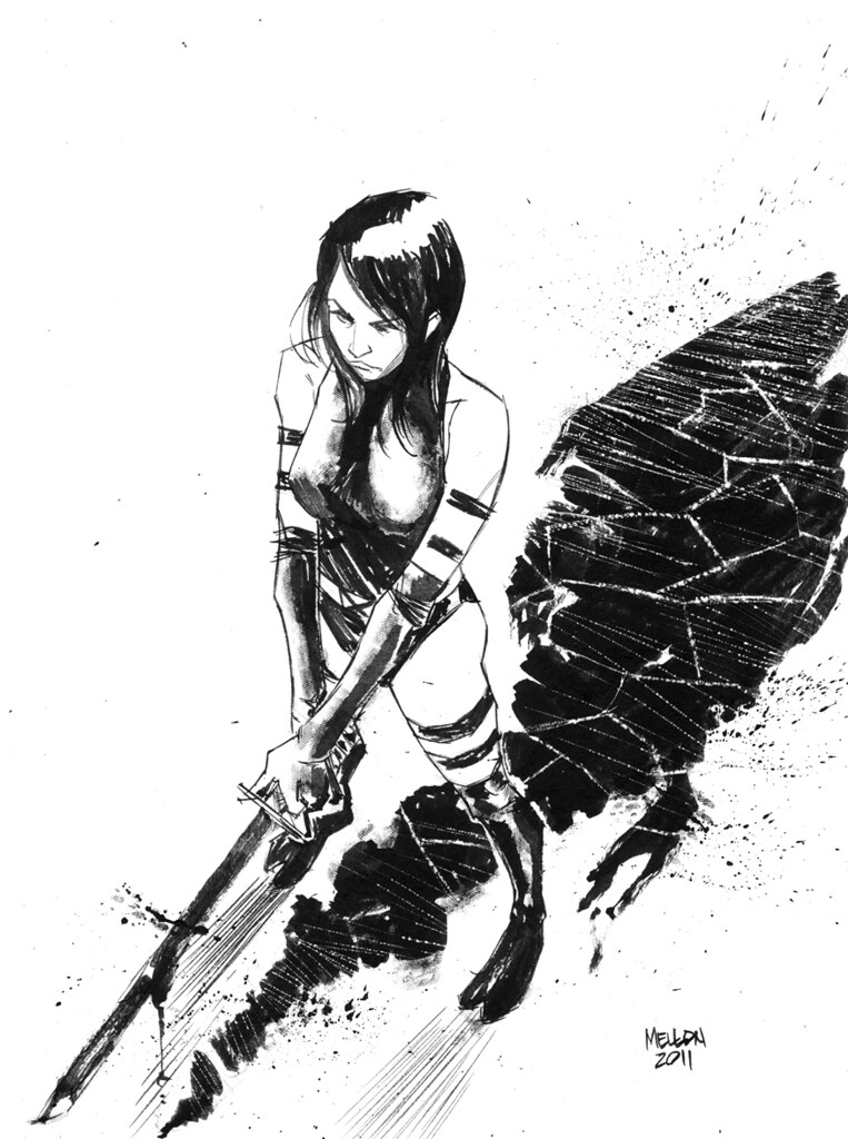psylocke by Kevin Mellon