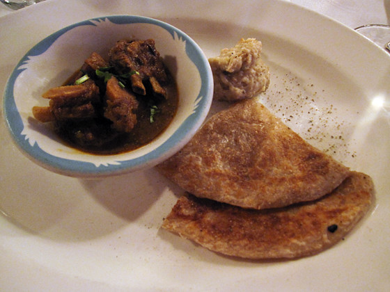 Goat Curry with Mashed Taro Roots