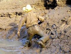 10 WS Lets climb up mud bank again (Wrangswet) Tags: wet canal hiking cowboyboots wetlook riverhike swimmingfullyclothed guysinwetjeans muddycowboy wetcowboy muddycowboyboots mudwallow wetwranglerjeans mudcanal menswimminginjeans mudwallowingcowboy muddywranglerjeans cowboybootsandspurs