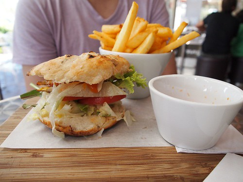 Chicken burger@Burger Bar