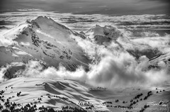 Cloudy Mountains (Evan Gearing (Evan's Expo)) Tags: blackandwhite bw cloud mountain snow canada ski rockies whistler nikon skiing bc britishcolumbia peak nikkor 18200 hdr d300s evangearingphotography evansexpo