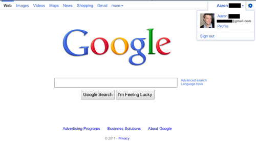 google-homepage-test-feb2011