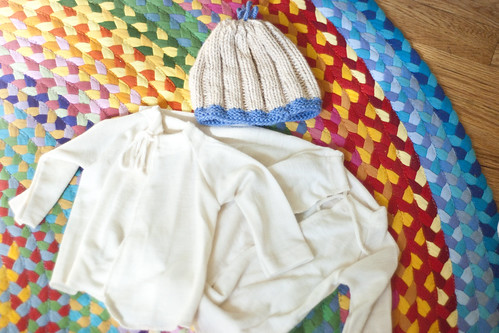 wool shirts and knit hat from holly