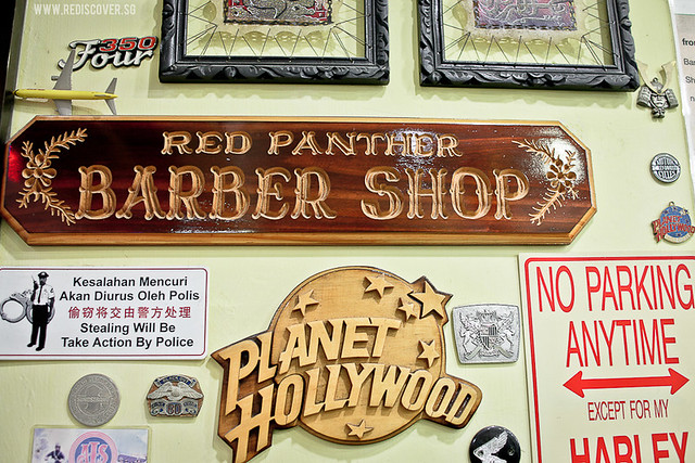 WINDOW: The Red Panther Barber Shop