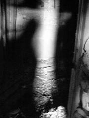 Shadow People (gebodogs) Tags: shadow hole ghosttown wyoming hillside dwelling gebo
