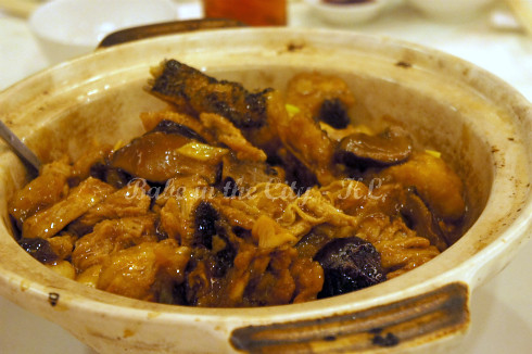 Braised 'Soon Hock' with Yam & Beancurd Skin in Clay Pot