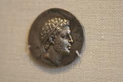 Silver tetradrachm of Perseus (BrassIvyDesigns) Tags: man archaeology silver greek coin ancient artifact metropolitanmuseum perseus metropolitanmuseumofart tetradrachm