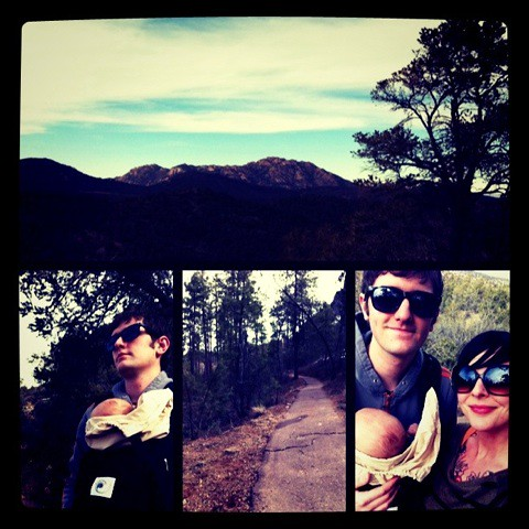 on our hike