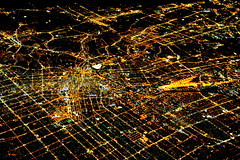 Los Angeles at Night  (Y. Peter Li Photography) Tags: california night lights los downtown view angeles aerial  birdeye