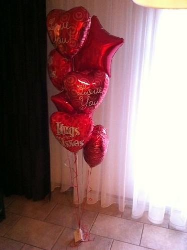Tafeldecoratie 7ballonnen