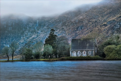 St Finbarr's Oratory in Gougane Barra - Ireland (janusz l) Tags: ireland lake church saint fog architecture clouds square cathedral cork finbarr hdr gouganebarra janusz leszczynski finbarre stfinbarrsoratory 023612