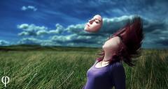 Faceless Composition (Ed Aardwolf) Tags: portrait sky inspiration face grass landscape grey flying long raw surrealism panasonic falling faceless 20mm f17 gf1