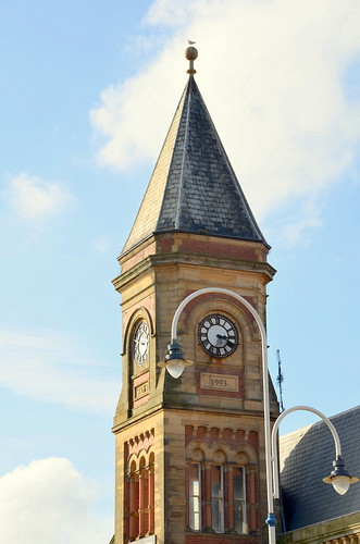 Clock Tower (Built 1894) At Old Bus Station Southport