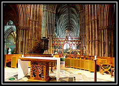 Lichfield Cathedral (Audrey A Jackson) Tags: windows roof history arches altar pillars treeoflife timbers lichfieldcathedral canon450
