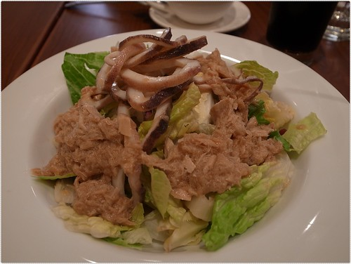 卡布里鮪魚花枝沙拉