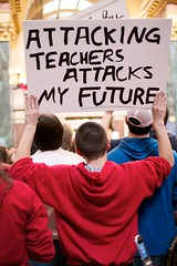 Young Madison Protestor stands up for teachers