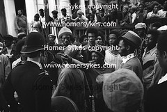 NOTTING HILL CARNIVAL RIOTS 1970s LONDON SUMMER BANK HOLIDAY MONDAY (Homer Sykes) Tags: uk england london english riot britain police anger 70s british 1970s nottinghill 1976 rastafarian gbr raceriot blackcommunity archivestock