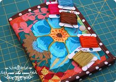 Garden Party Needle Book (joomoolynn) Tags: anna maria sewing felt case needle quilted kit needlebook horner amh