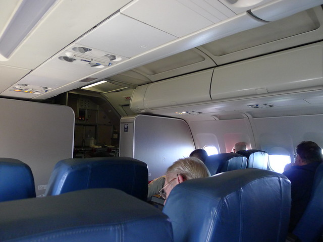 First class cabin of a Delta A320 by Moncrief Speaks