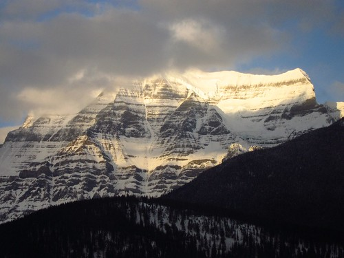 "Mount Robson is the highest peak of the Rocky Mountains and the most ""prominent"" - greatest top to bottom distance"