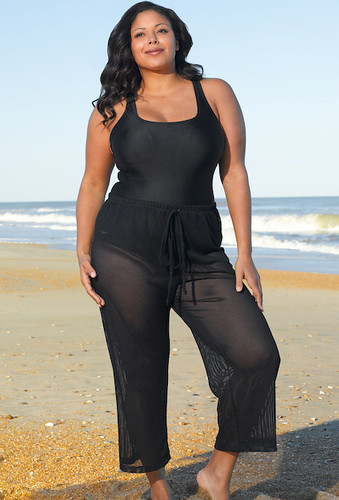 f91bbe6a4c8 Vogue Nassau Plus Size Mesh Pants by Beach Belle®