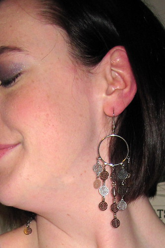 Earrings close-up