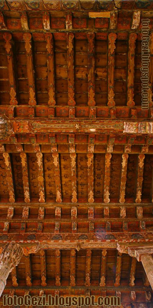 Kastamonu Kasaba Camii ahşap tavan detayı