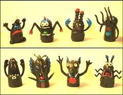 Alien Finger Monsters (Astronit) Tags: monster finger rubber creature uglies jiggler