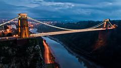 Clifton Suspension Bridge at Dusk (Vaidas M) Tags: uk night bristol cloudy cliftonsuspensionbridge avongorge nikond90 tamron1750mmf28xrdiii