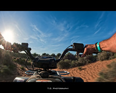 Action Quad (iPh4n70M) Tags: sun bike photography soleil photo sand nikon photographer photographie action dunes quad fisheye morocco photograph cycle maroc tc motor nikkor 16mm panning dunas dsert fil photographe dsert nohdr d700 tcphotography ph4n70m iph4n70m tcphotographie