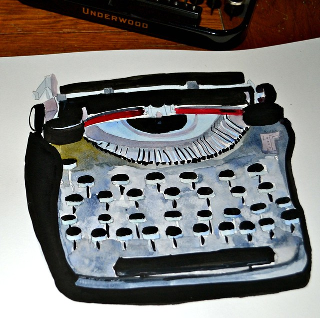 The Sketchbook Challenge, my Vintage typewriter