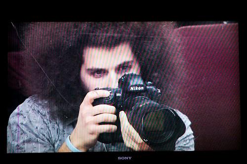 On TV shooting the Philadelphia Flyers
