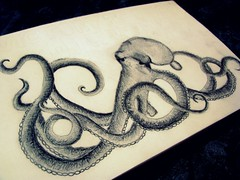 Octopus (crisis-) Tags: art drawing octopus
