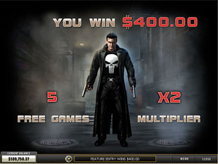 free Punisher War Zone slot free spins