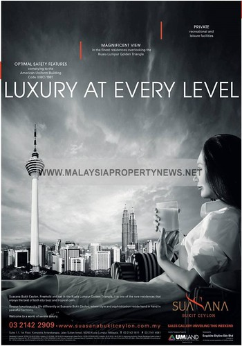 Suasana Bukit Ceylon, KL Luxury Condominium for sale