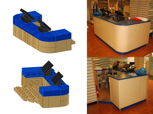 Work In Progress - LEGO® 'Loyds Toys' Toy Shop Ground Floor Counter