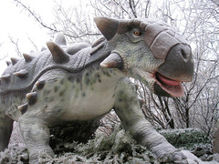 Euoplocephalus (pageofbats) Tags: winter cold dinosaur hoarfrost prehistoric animatronic calgaryzoo dinosaurpark prehistoricpark euoplocephalus dinosaursalive kiplingwest dinosaursunearthed calgaryzoodinosaurpark