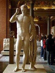 Louvre 046 (Akieboy) Tags: sculpture man paris male statue museum nude greek roman louvre marble marcellus