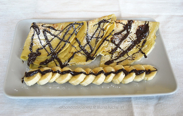 Banana chocolate crêpes