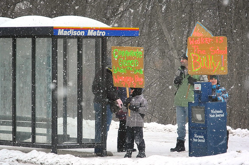 Snowy Saturday in Madison: Busing to the Revolution