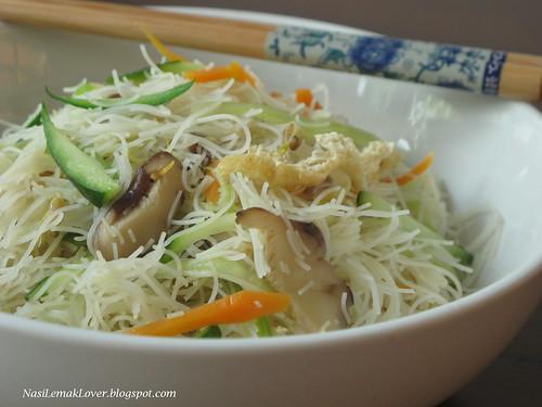 Vegetarian white Mee Hoon(Rice Vermicelli)