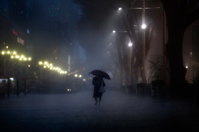 Night Rain Photograph